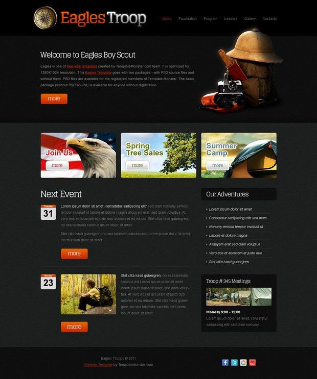 Free Website Template for Youth Organization | Free website ...
