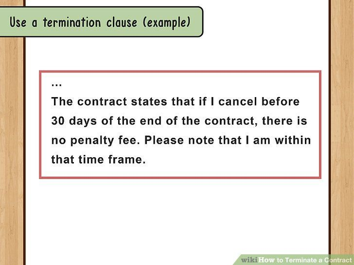 How to Terminate a Contract (with Sample Termination Letters)