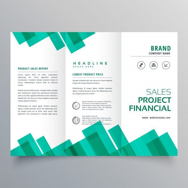 Elegant geometric business brochure vector design template Vector ...