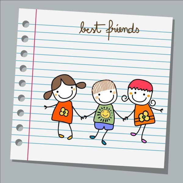 Notebook paper with kids vector material 04 - Vector Life free ...