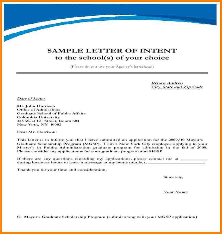 12+ letter of intent sample | monthly bills template