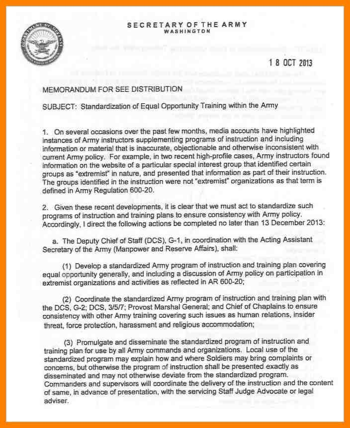 14+ army memorandum format | addressing letter
