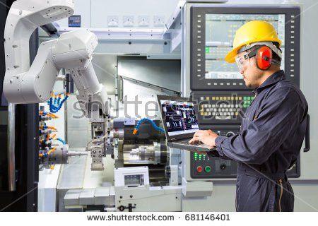 Electrical Engineer Reading Drawing Diagram Maintenance Stock ...