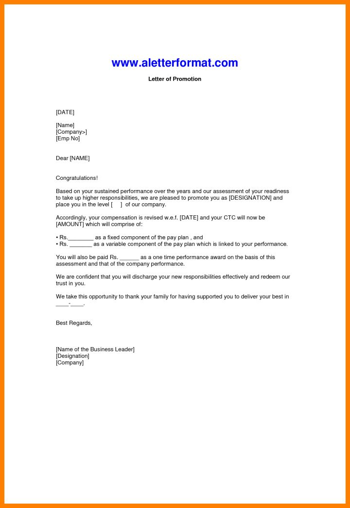 sample promotion letter from employer | Docoments Ojazlink