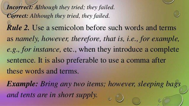 English Punctuation | Period, Semicolon, Space