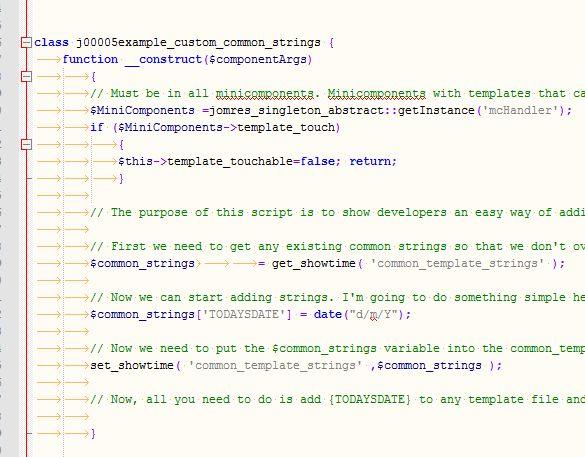 Example Custom Common Strings - Jomres User Manual