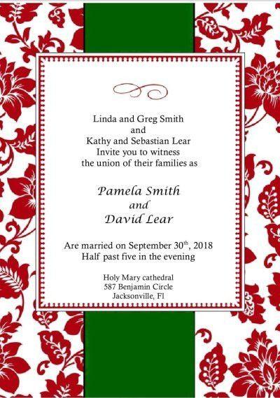 Christmas Wedding Invitations. Elegant Invitation Kit for DIY brides