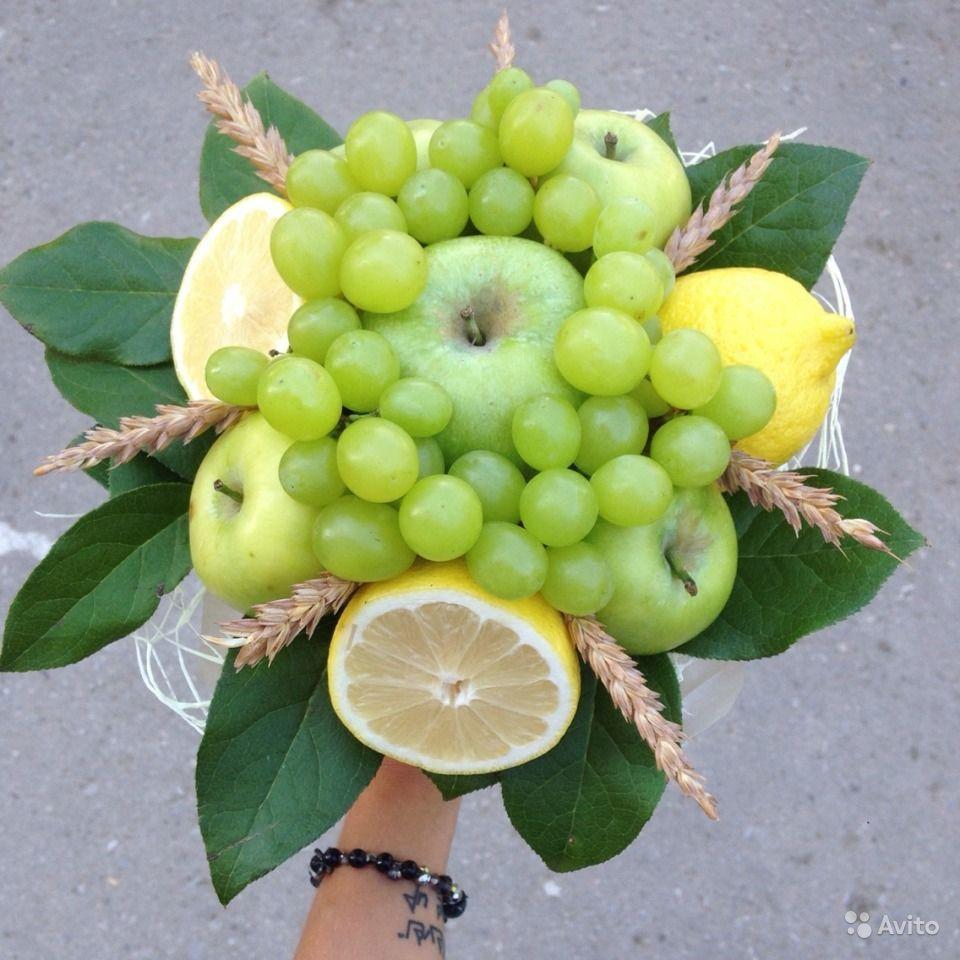 Букет из фруктов своими руками или корзинка