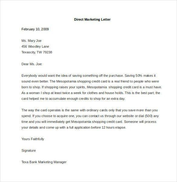 Direct Mail Letter Format | Letter Format 2017