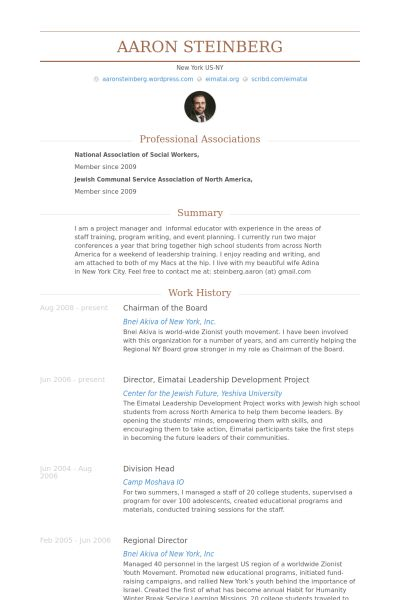 Chairman Of The Board Resume samples - VisualCV resume samples ...