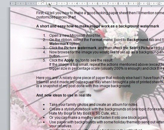 Microsoft Word Guide| How to Make Backgrounds For Microsoft Word
