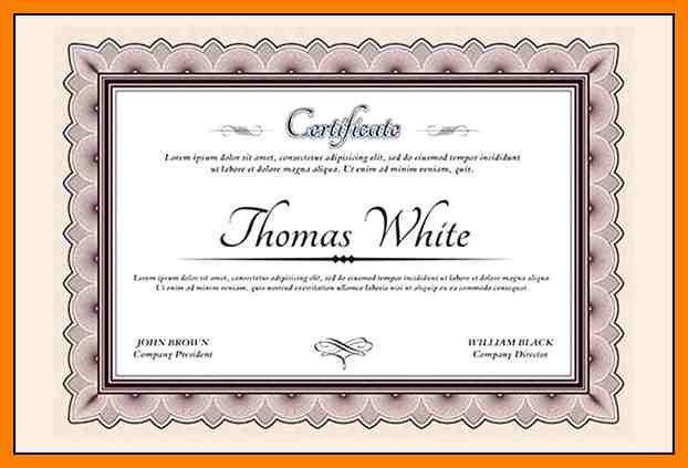 10+ certificate wording | produce-clerk