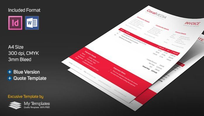 FREE Invoice & Quote Template (Word, InDesign) | Abdulla Hussain ...