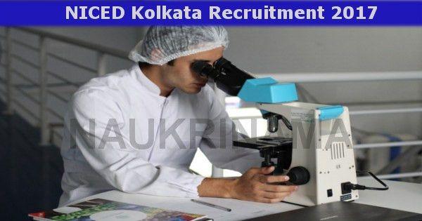 Kolkata research scientist and lab technician jobs 2017