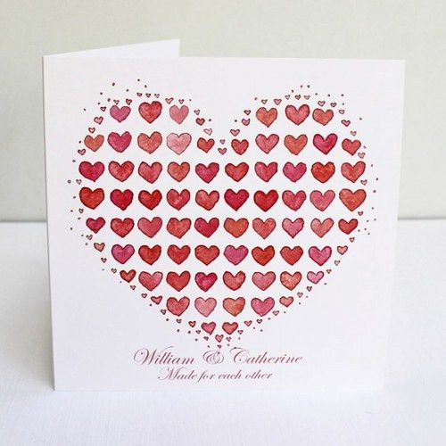 Pink Love Heart Personalised Anniversary Card for Anniversary Card ...