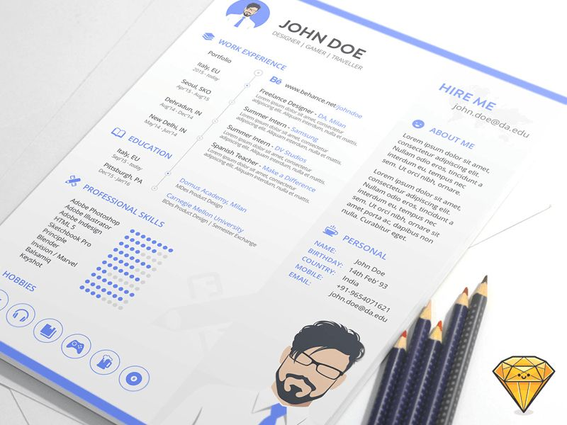 Adobe Resume Template. the best cv resume templates 50 examples ...