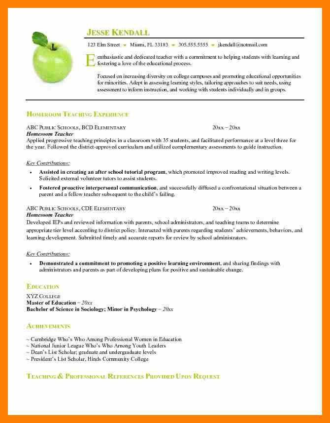 Best Teacher Resumes [Template.billybullock.us ]
