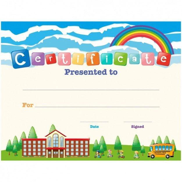 Children certificate design Vector | Free Download