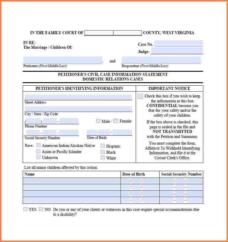 8+ virginia divorce papers free | Divorce Paper
