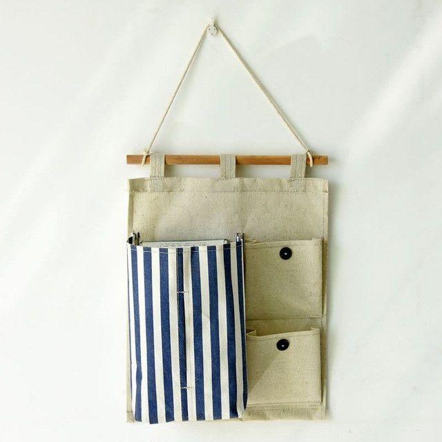 New!Linen Hang Storage Bag Tissue Box Holder Letter Holder Wall ...