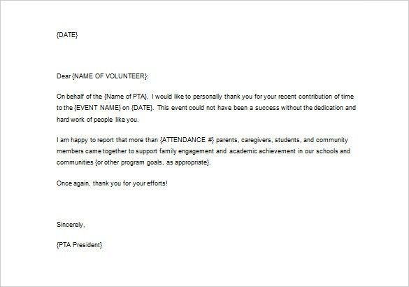 Volunteer appreciation letter sample volunteer thank you letter 10 volunteer appreciation letter sample fotolip rich image and stopboris Image collections
