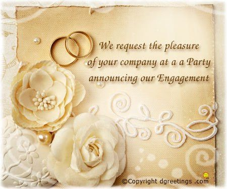 Engagement Invitation Wording, Engagement Party Invitations, Message