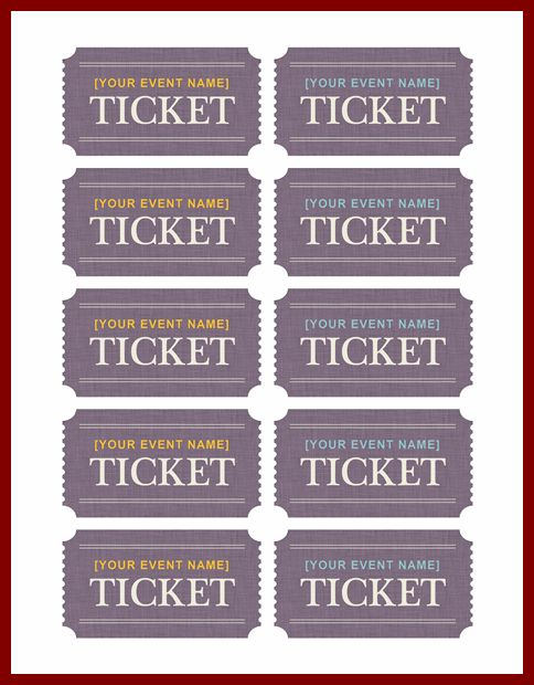 13+ ticket template for mac | sendletters.info