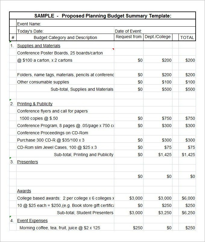 6+ Budget Proposal Templates - Free Word, PDF Documents Download ...