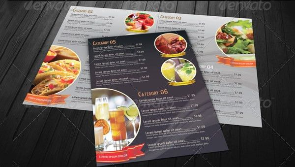 Food Menu Template. Menu Template 24 30 Restaurant Menu Templates ...