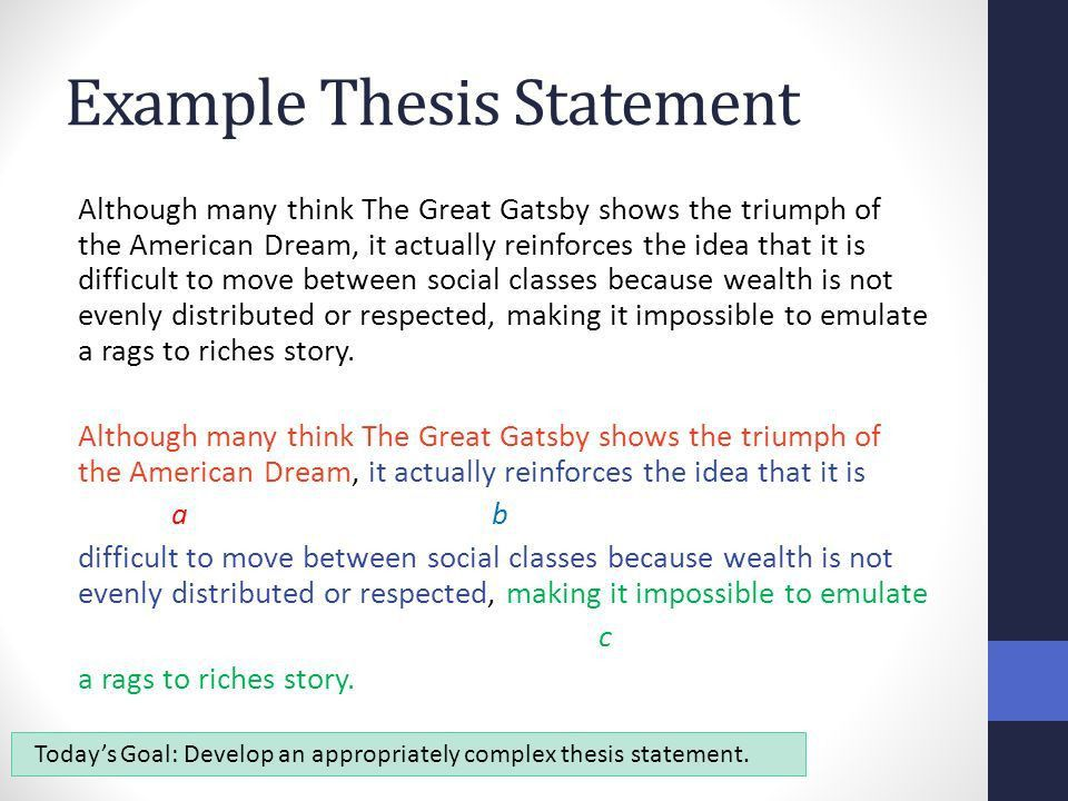 Synthesis Essay: Thesis Statements Benchmark - ppt video online ...