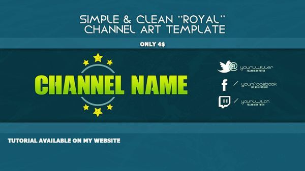 PREMIUM Youtube BANNER Template - Photoshop Template