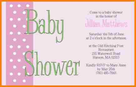 6+ free baby shower invitations templates for word | artist resume