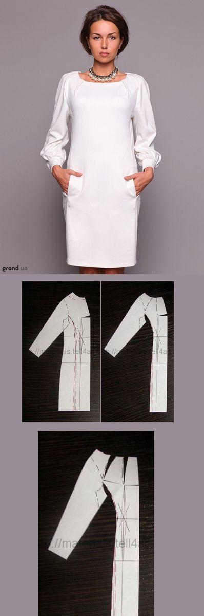Белое прямое платье с кружевом