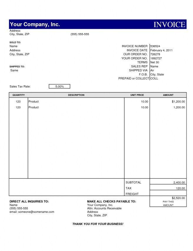 Download Cash Invoice Template Word | rabitah.net