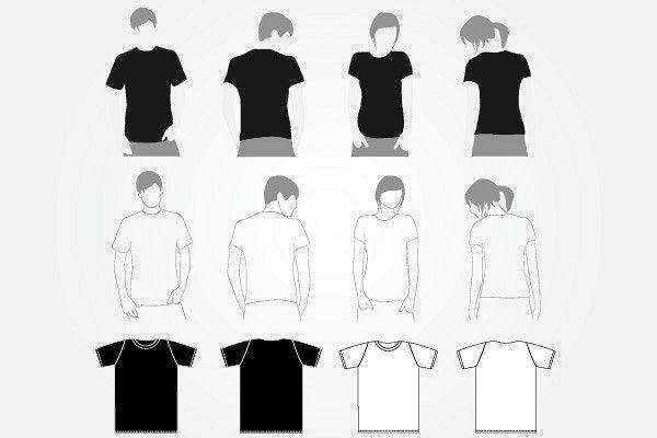 Plain White T-shirt Template   TopVectors.com