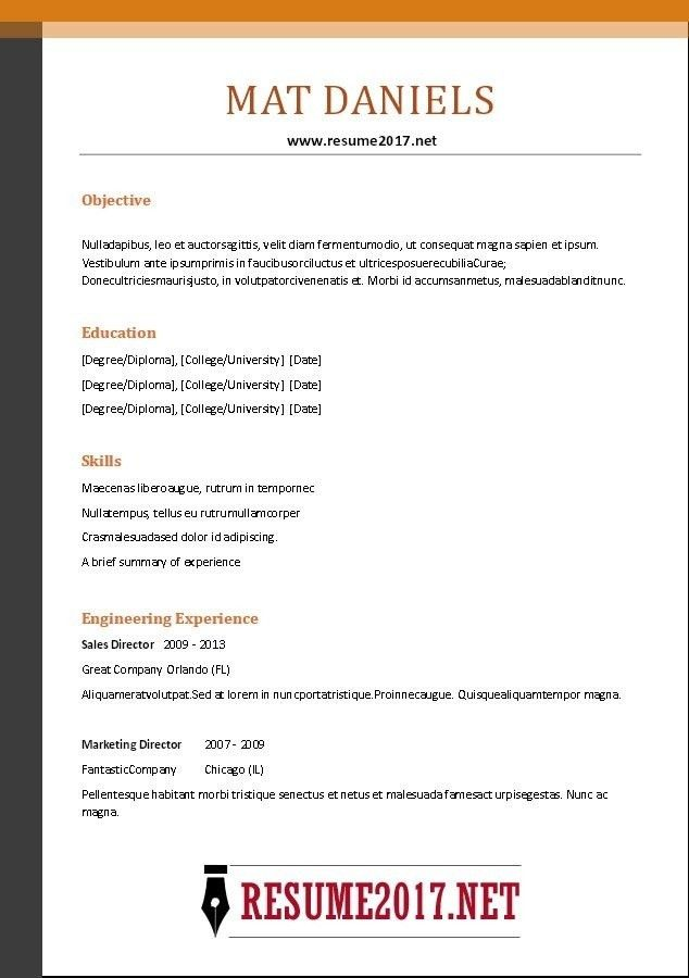 combination resume. the hybrid resume format 3 resume formats ...