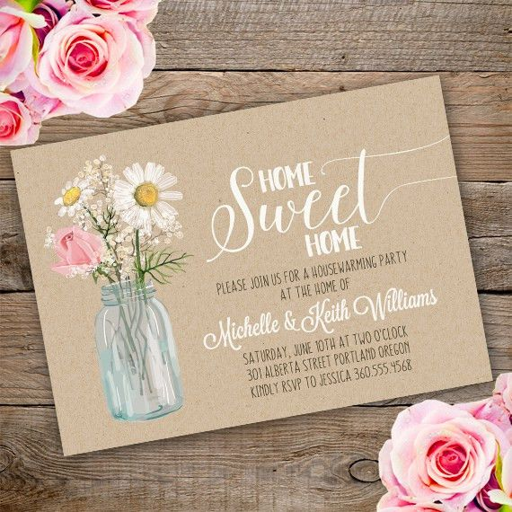 Printable Floral Housewarming Invitation Template. Invite your ...