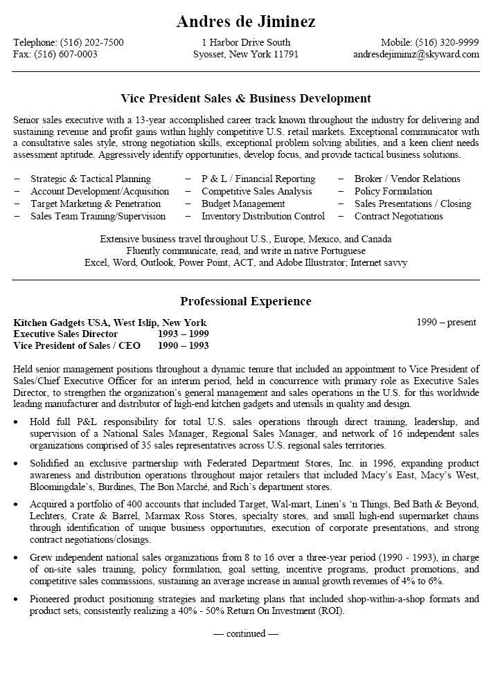 Regional Manager Resume Examples. Sales Management Resume Samples ...