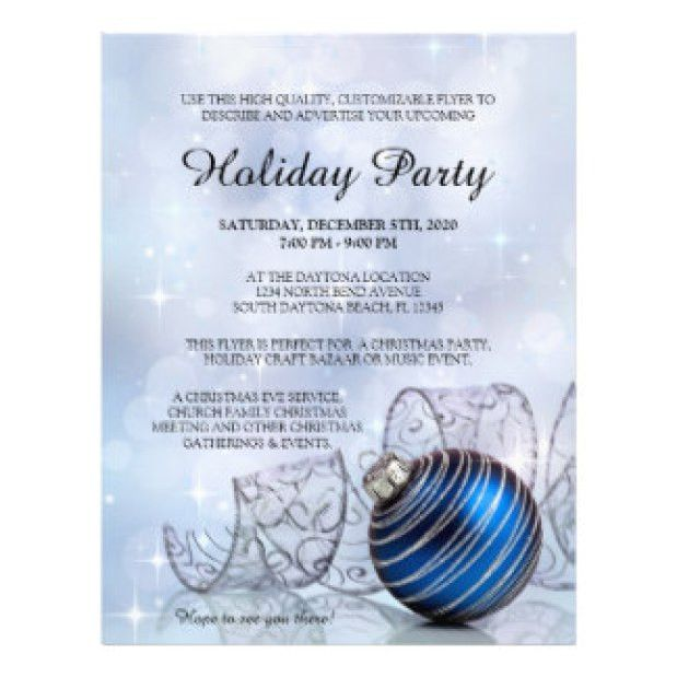 Holiday Flyer Template Example 2. Celebrations - Christmas Flyer ...