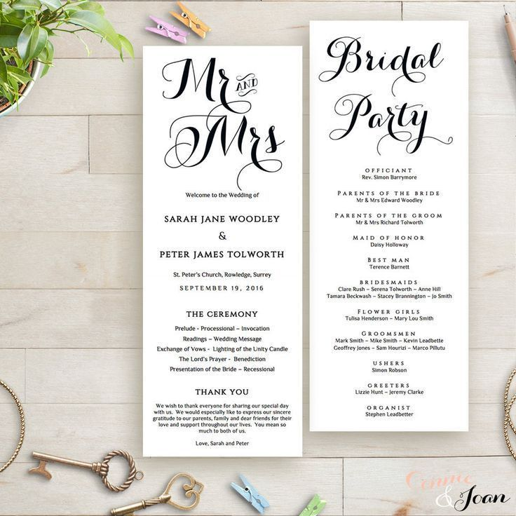 Best 25+ Order of service template ideas on Pinterest | Wedding ...
