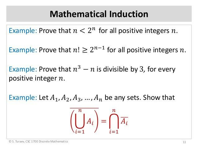 Math induction principle (slides)