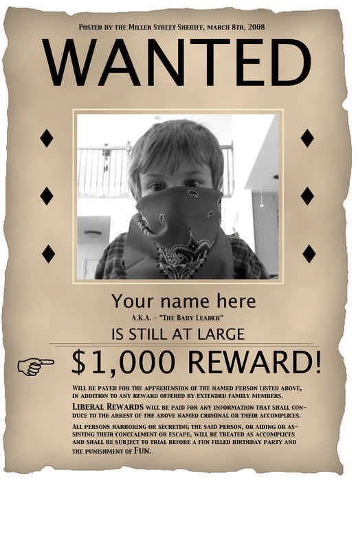 10 Best Images of Wanted Poster Template PDF - Old West Wanted ...