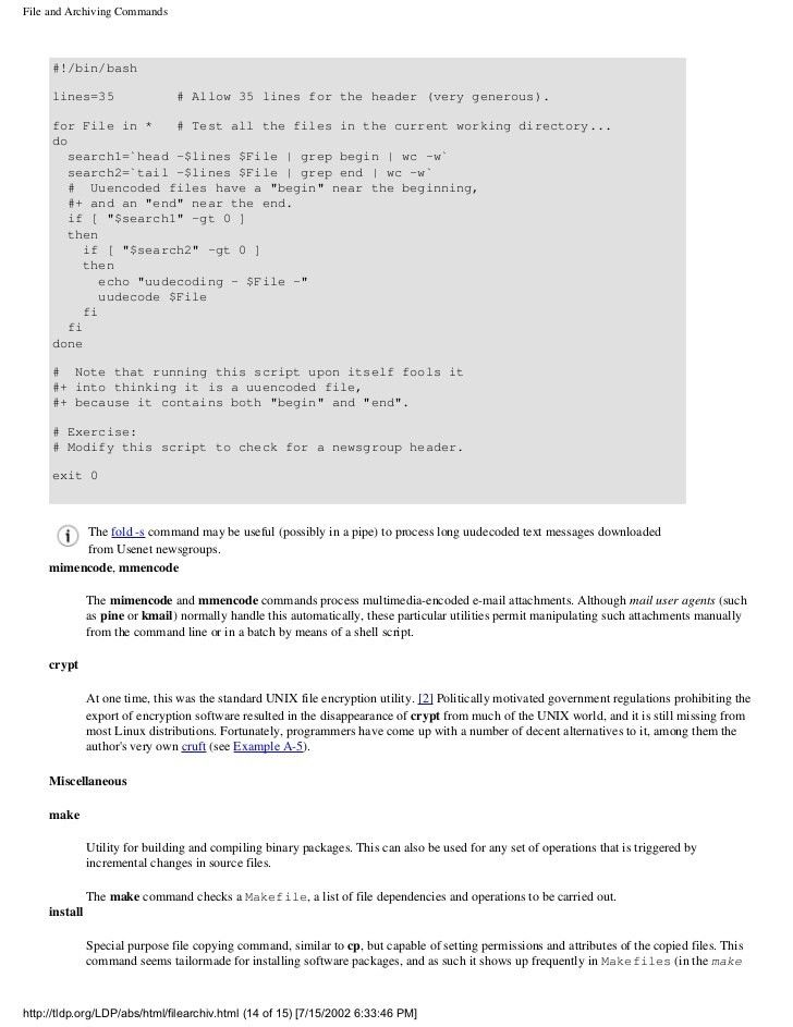 Advanced Bash Scripting Guide 2002