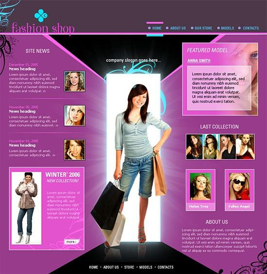 BoxedArt / Member Downloads / Website Templates / Fashion & Beauty ...