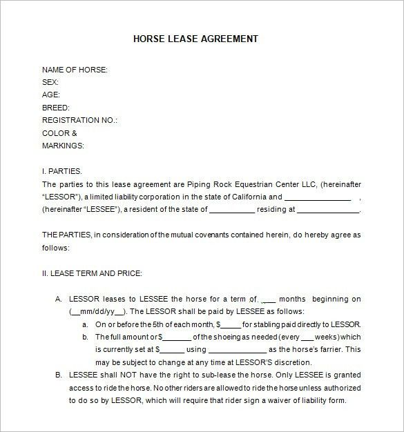 9+ Lease Contract Templates – Free Word, PDF Documents Download ...