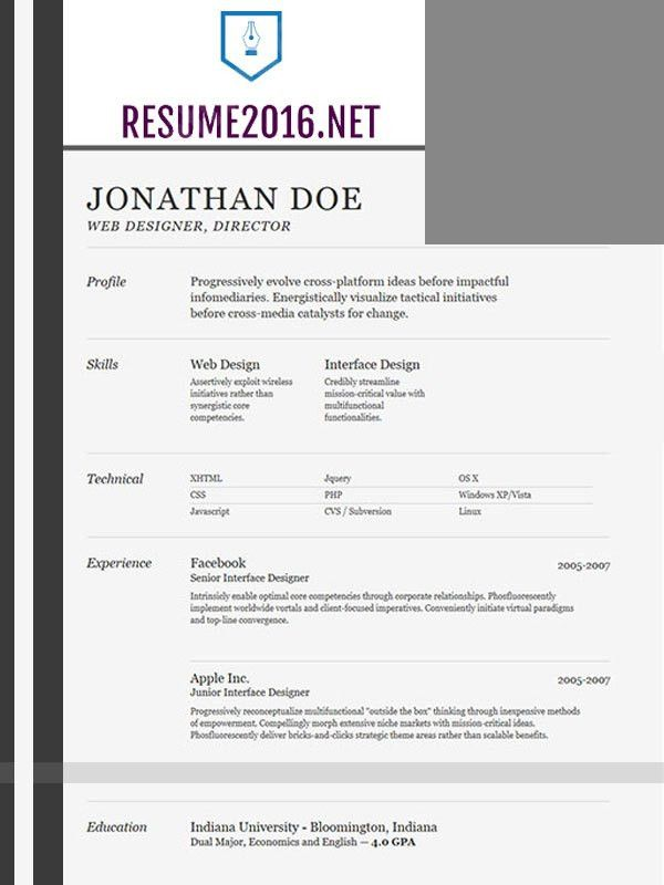 Best resume template 2016 that wins! •