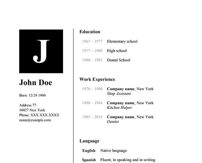Resume Examples. best 10 image resume template word mac: Resume ...