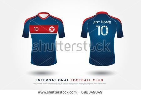 Set Soccer Kit Football Jersey Template Stock Vector 511473295 ...