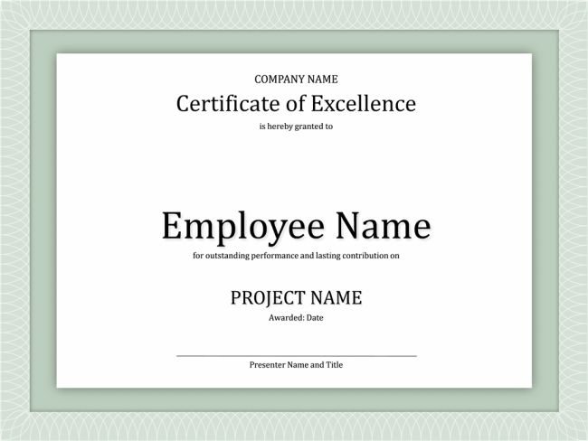 Minimalist Design of Business Certificate of Excellence Template ...