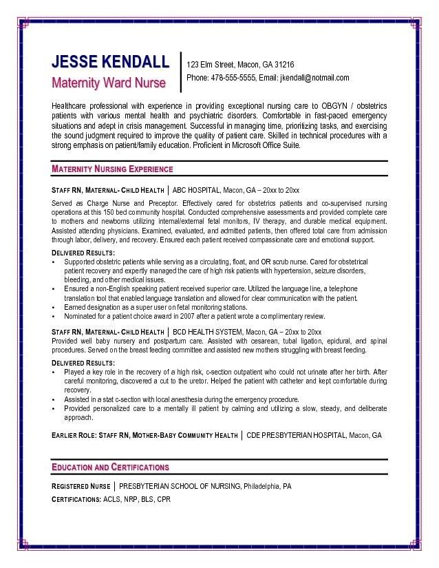 Free Nursing Student Resume Template Easyjob Intended For ...